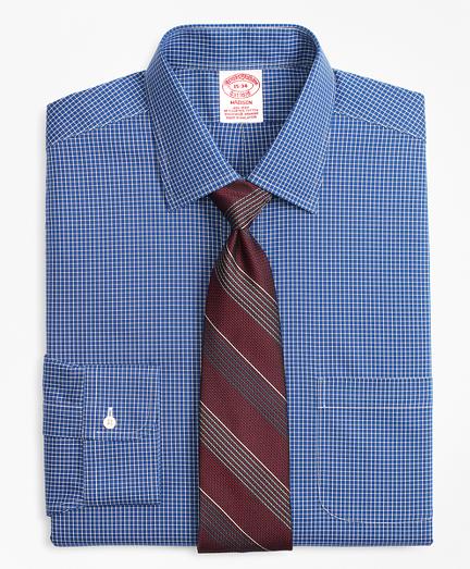 Stretch Madison Classic-Fit Dress Shirt, Non-Iron Ground Check