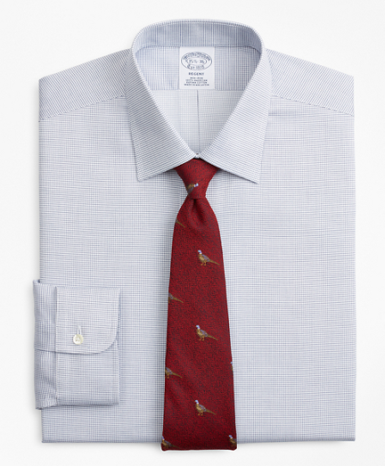 Regent Fitted Dress Shirt, Non-Iron Micro-Check
