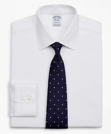 Stretch Regent Fitted Dress Shirt, Non-Iron Twill Ainsley Collar