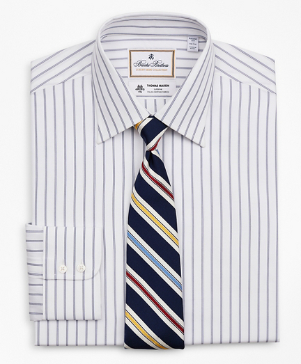 Luxury Collection Regent Fitted Dress Shirt, Franklin Spread Collar Micro-Outline Stripe