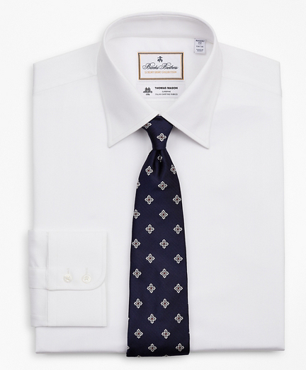 Luxury Collection Regent Fitted Dress Shirt, Franklin Spread Collar Herringbone