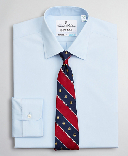 Milano Slim Fit Dress Shirt, Performance Non-Iron with COOLMAX®, Ainsley Collar Twill
