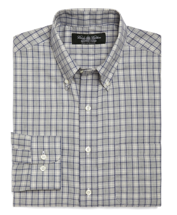 Country Club Slim Fit Check Sport Shirt Grey