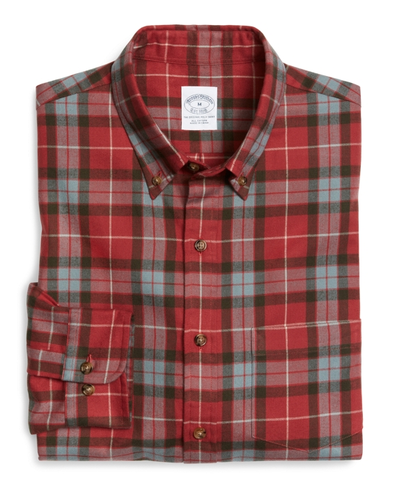 Slim Fit Weathered Flannel Fraser Sport Shirt Red