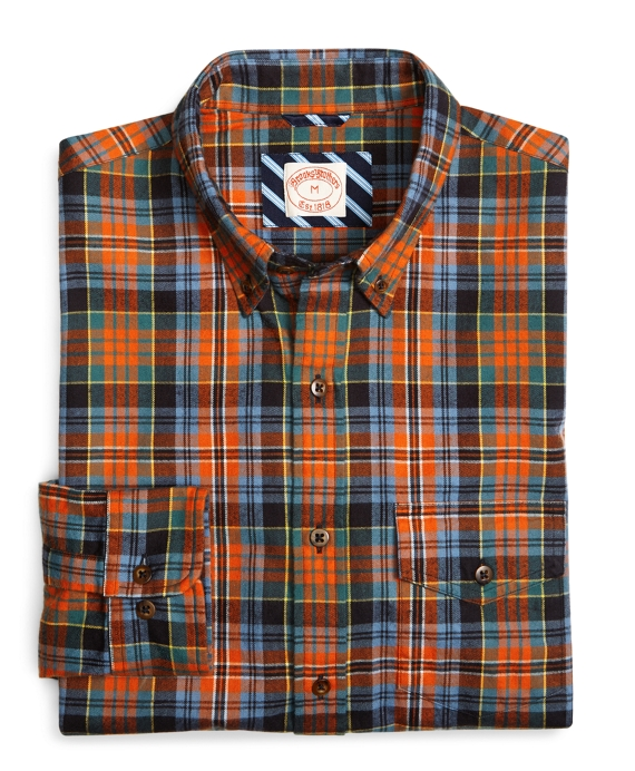 Ancient Kid Flannel Sport Shirt Orange
