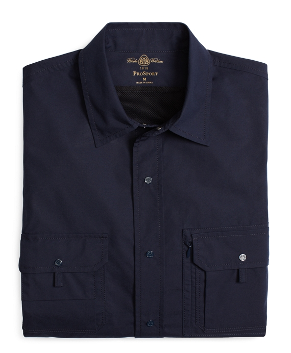 ProSport® Hiking Shirt with Convertible Sleeves Navy