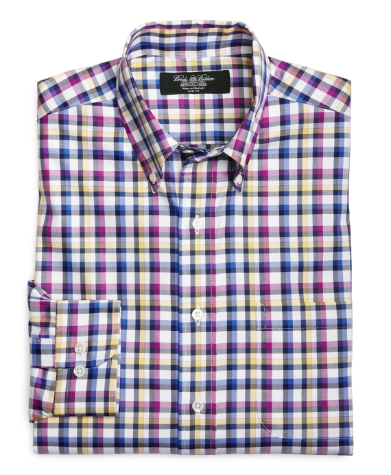 Country Club Slim Fit Multi Side Frame Check Sport Shirt Multi