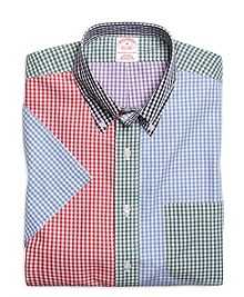 Supima® Cotton Non-Iron Regular Fit Gingham Fun Short-Sleeve Sport Shirt