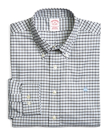 Supima® Cotton Non-Iron Regular Fit BrooksCool® Three-Color Oxford Check Sport Shirt