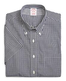 Supima® Cotton Non-Iron Regular Fit Gingham Short-Sleeve Sport Shirt