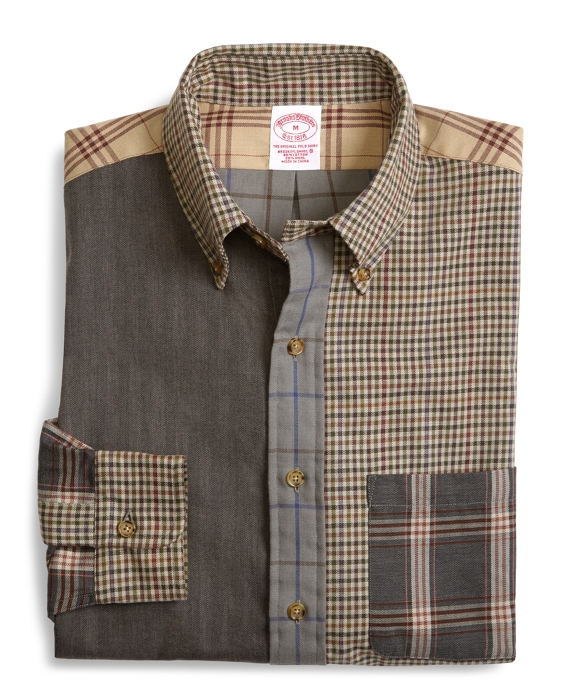 BrooksFlannel® Regular Fit Pieced Fun Sport Shirt Multi