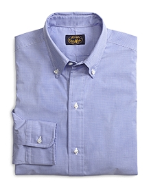 Own Make Blue Mini Check Sport Shirt