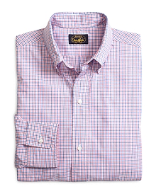 Own Make Pink and Blue Check Sport Shirt