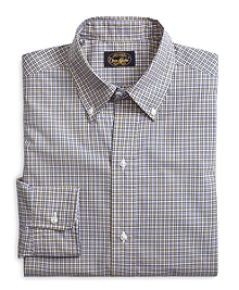 Own Make Yellow and Blue Mini Plaid Sport Shirt