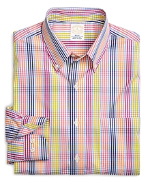 Golden Fleece® Slim Fit Multi Triple Check Sport Shirt