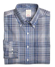 Golden Fleece® Regular Fit Blue with Brown Multi District Check Sport Shirt