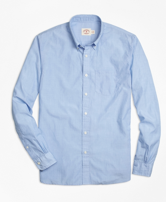 Solid Light Blue End-on-End Sport Shirt