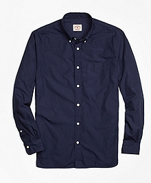 Solid Navy End-on-End Sport Shirt