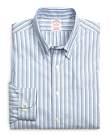 Supima® Cotton Non-Iron Regular Fit Tonal Stripe Twill Sport Shirt