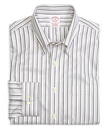 Supima® Cotton Non-Iron Regular Fit Tonal Stripe Twill Sport Shirt