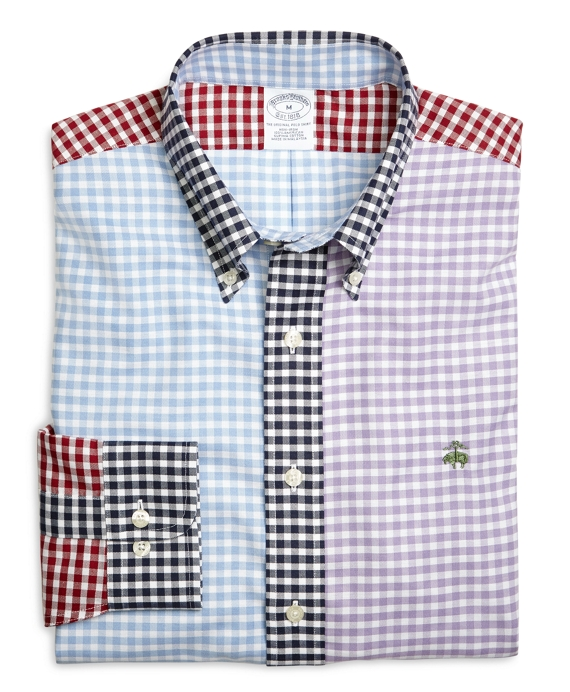 Supima® Cotton Non-Iron Slim Fit Gingham Fun Oxford Sport Shirt Multi