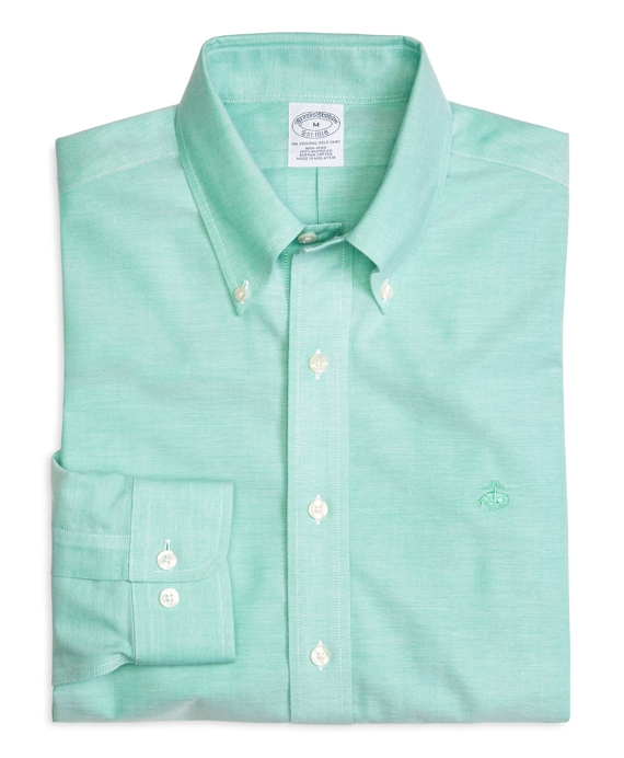 Supima® Cotton Slim Fit Non-Iron BrooksCool® Solid Oxford Sport Shirt Green