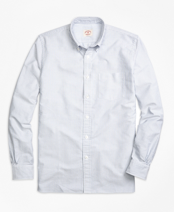 Stripe Oxford Sport Shirt Blue
