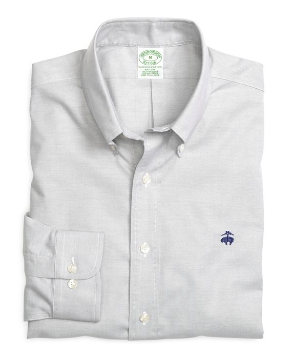 Non-Iron Extra-Slim Fit Solid Sport Shirt Grey