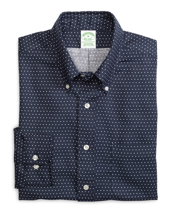 Extra-Slim Fit Dot Sport Shirt Navy