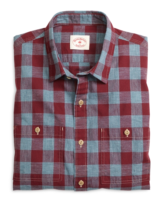 Buffalo Check Sport Shirt Red