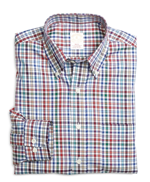 Golden Fleece® Regular Fit Mini Check Sport Shirt White Multi