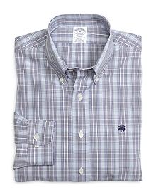 Non-Iron Slim Fit Glen Plaid Sport Shirt