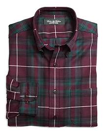 Country Club Regular Fit Multiplaid Saxxon Wool Sport Shirt