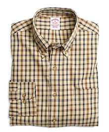 BrooksFlannel® Regular Fit Bold Check Sport Shirt