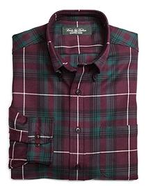 Country Club Slim Fit Multiplaid Saxxon Wool Sport Shirt