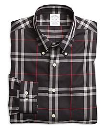 Non-Iron Slim Fit Windowpane Sport Shirt