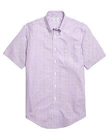 Non-Iron Regent Fit Gingham Short-Sleeve Sport Shirt