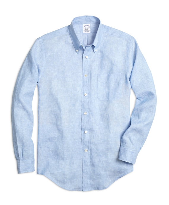 Regent Fit Linen Sport Shirt Blue