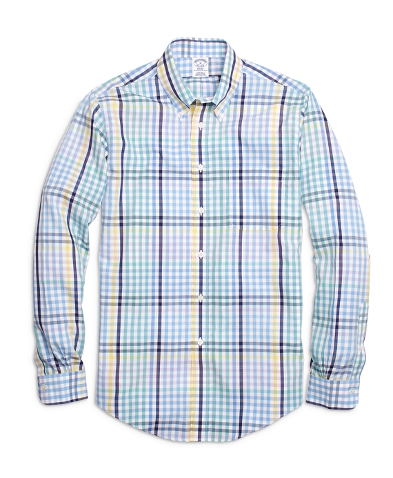 Non-Iron Regent Fit Multi Gingham  Sport Shirt Multi