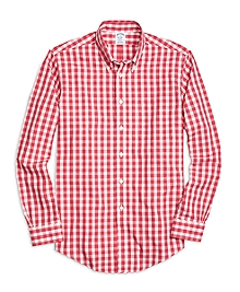 Non-Iron Regent Fit Large Gingham  Sport Shirt