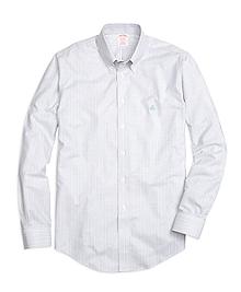 Non-Iron Madison Fit Track Stripe Sport Shirt