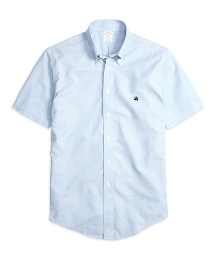 Non-Iron Regent Fit Oxford Short-Sleeve Sport Shirt