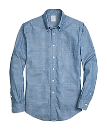 Regent Fit Chambray Anchor Sport Shirt