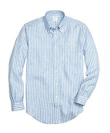 Regent Fit Stripe  Linen Sport Shirt
