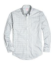Non-Iron Madison Fit Tattersall Sport Shirt