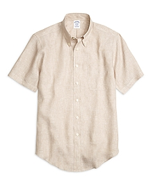 Regent Fit Linen Short-Sleeve Sport Shirt