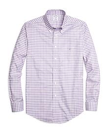 Non-Iron Regent Fit Slub Check Sport Shirt
