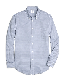 Regent Fit Horizontal Stripe Seersucker Sport Shirt