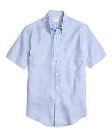 Madison Fit Linen Short-Sleeve Sport Shirt