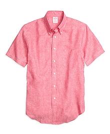 Madison Fit Linen Short-Sleeve Sport Shirt